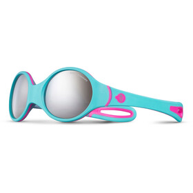 Julbo Loop Spectron 4 Sunglasses 2-4Y Kinder turquoise/gray/fluorescent pink-gray flash silver